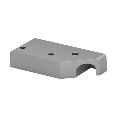 Q-Railing - Corner base flange for post profile, Easy Alu,left, brushed aluminium, anodized 25 micrometre