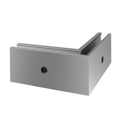 Q-Railing - Base shoe corner, EG Pro Inverse, fascia mount, outer corner, aluminium, st. steel effect, anod.