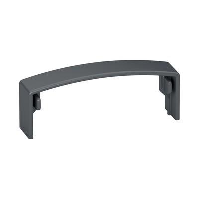 Q-Railing - Cover cap for handrail, Easy Alu, straight,horizontal, plastic, RAL 7016 [PK2]