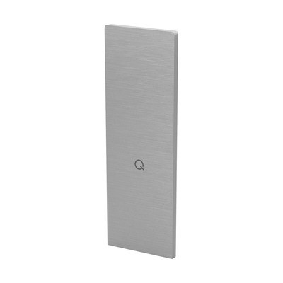 Q-Railing - End cap, Easy Glass Prime, for staircase,top mount, left & right, brushed aluminium, anod. - [16673606018] 168413-00-18