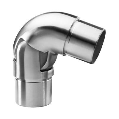 Q-Railing - Adjustable flush angle, (40 degree-70 degree), tube Dia 42.4 mm x 2 mm, stainless steel 316 exterior, satin [PK2]- [14031924212]