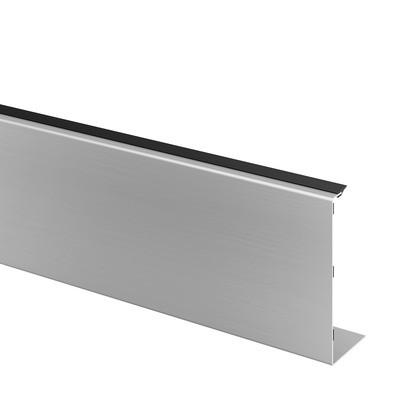 Q-Railing - Cladding, Easy Glass Pro, fascia mount, outside, L=5000 mm, alu, st. steel effect, anod.