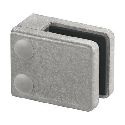 Q-Railing - Glass clamp, MOD 42, excl. rubber inlay, flat, zamak, raw [PK4]- [10420000000]
