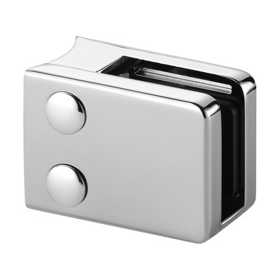 Q-Railing - Glass clamp, MOD 42, excl. rubber inlay, tube Dia 48.3 mm, stainless steel 316 exterior, polished [PK4]