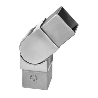 Q-Railing - Adjustable flush angle, Square Line, (0 degree-70 degree), tube 40x40x2 mm, stainless steel 316 exterior, satin [PK2]