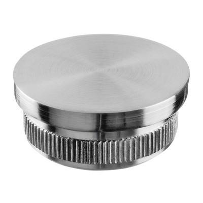 Q-Railing - Flat end cap, Easy Hit, tube Dia 33.7 mm x 2 mm, stainless steel 316 exterior, satin [PK2]- [14573223312]