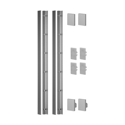 Q-Railing - Easy Glass View, set, height 1100 mm, aluminium, matt silver effect, anodized 25 micrometre