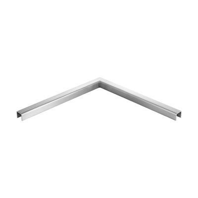 Q-Railing - 90 degree connector, horizontal, U-profile, 30x27x3 mm, U=24x24 mm, 500x500 mm, stainless steel 316 exterior, satin