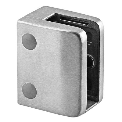 Q-Railing - Glass clamp, MOD 24, excl. rubber inlay, flat, stainless steel 316 exterior, satin [PK4]- [14240000012]