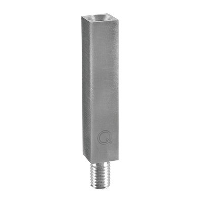 Q-Railing - Handrail bracket stem, 14 x 14 mm, M10/M6 thread, L=68 mm, stainless steel 304 interior, satin [PK2]- [13481106812]