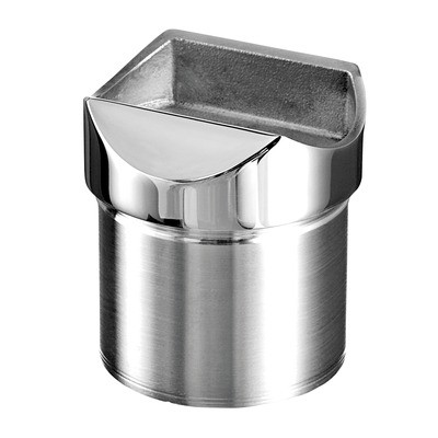 Q-Railing - Tube adapter, tube Dia 42.4 mm x 2 mm, handrail Dia 42.4 mm, stainless steel 316 exterior, polished [PK2]- [14077224210] 140770-042-10
