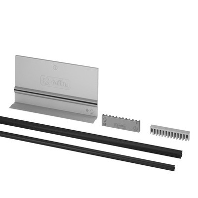 Q-Railing - Rubber set, adjustable, Easy Glass Pro, L=25 m, for 15 mm glass thickness