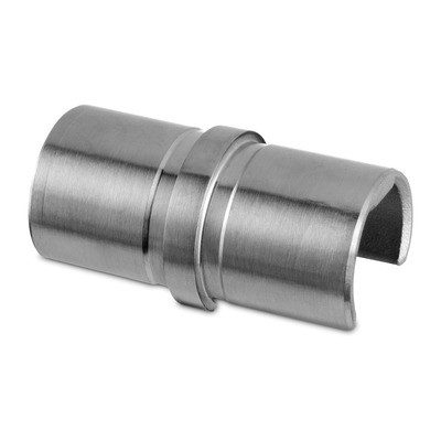 Q-Railing - Tube connector, glass frame tube, Dia 30 mm, stainl. steel 304 interior, satin [PK2]
