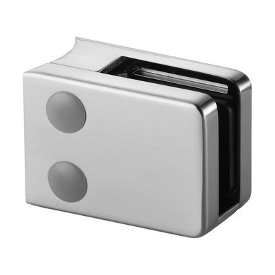 Q-Railing - Glass clamp, MOD 42, excl. rubber inlay, tube Dia 48.3 mm, zamak, stainless steel effect [PK4]- [10420004819]