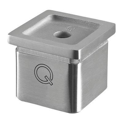 Q-Railing - Tube adapter, Square Line, tube 40x40x2 mm, handrail flat, stainless steel 304 interior, satin [PK2]