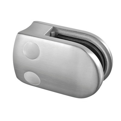 Q-Railing - Glass clamp, MOD 28, excl. rubber inlay, tube Dia 48.3 mm, stainless steel 304 interior, satin [PK4]