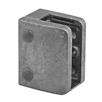 Q-Railing - Glass clamp, MOD 24, excl. rubber inlay, flat, zamak, raw [PK4]