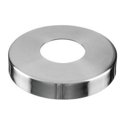 Q-Railing - Cover cap for welding flange MOD 0941, tube Dia 48.3 mm, Dia 125 mm, stainless steel 304 interior, satin [PK2]