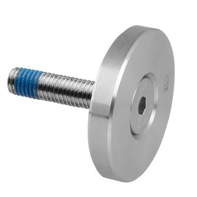 Q-Railing - Clamping disc for MOD 0741, Dia 50 mm, flat, incl. screw DIN7991, M10x50mm, st. steel 316 exterior, sat. [PK2]- [14074100000] 140741-150