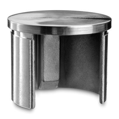 Q-Railing - Flat end cap for cap rail, Dia 60.3 mm x 1.5 mm, stainless steel 316 exterior, satin [PK2]- [14673206012] 146732-060-12
