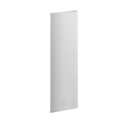 Q-Railing - End cap, Easy Glass Pro Y, fascia mount, left, aluminium, stainless steel effect, anodized