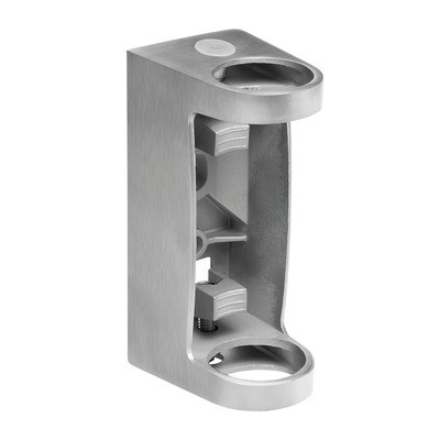 Q-Railing - Baluster bracket, MOD 0557, fascia mount, tube Dia 42.4 mm, stainless steel 304 interior, satin