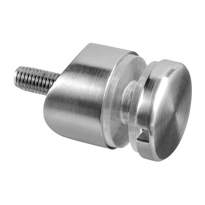 Q-Railing - Glass adapter, Dia 30 mm, tube Dia 33.7 mm, M8 thread, 6 - 17.52 mm glass, stainless steel 316 exterior, satin MOD 0746[PK4]