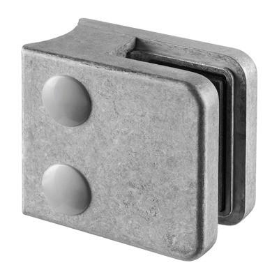 Q-Railing - Glass clamp, MOD 21, excl. rubber inlay, tube Dia 42.4 mm, zamak, raw [PK4]
