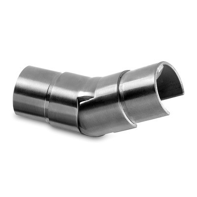 Q-Railing - Adjustable flush angle, (25 degree-55 degree), upwards, glass frame tube, Dia 30 mm, stainl. steel 316 exterior, satin [PK2]