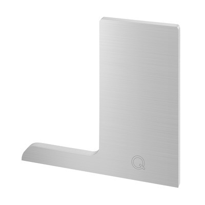 Q-Railing - End cap, Easy Glass Pro F, top mount, left, aluminium, stainless steel effect, anodized - [16673400918]
