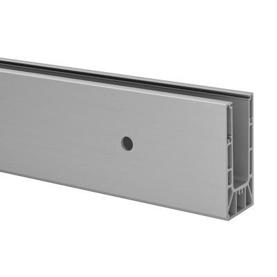 Q-Railing - Easy Glass Smart, base shoe, fascia mount, L=5000 mm, aluminium, st. steel effect, anod. 25 micrometre