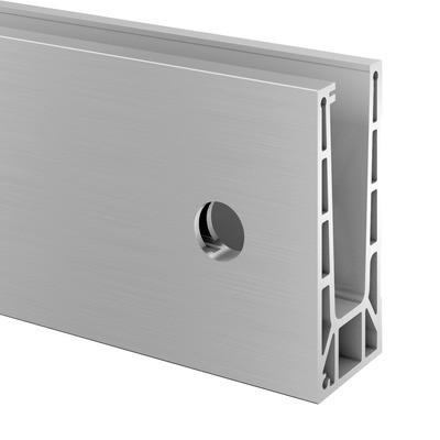 Q-Railing - Easy Glass Pro, base shoe, fascia mount, L=2500 mm, aluminium, st. steel effect, anod. 25 micrometre - [16691500018]