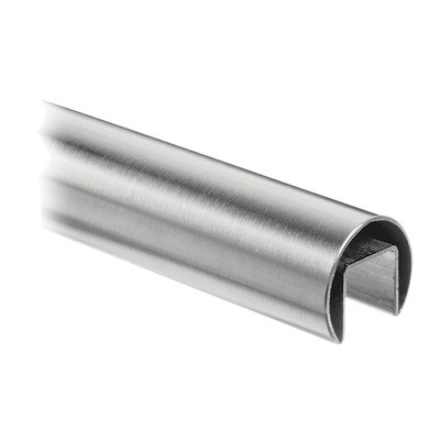 Q-Railing - Cap rail, Dia 60.3 mm x 1.5 mm, L=2500 mm, U=34 mm x 34 mm, stainless steel 316 exterior, satin - [14692506012]