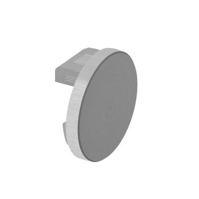 Q-Railing - Flat end cap for cap rail, Easy Hit, Dia 42.4x1.5 mm, aluminium, stainless steel effect [PK2]