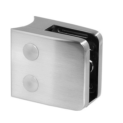 Q-Railing - Glass clamp, MOD 26, excl. rubber inlay, tube Dia 42.4 mm, zamak, stainless steel effect [PK4]- [10260004219]