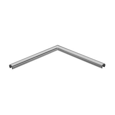 Q-Railing - Angled tube, 90 degree, horizontal, for cap rail, Dia 42.4x1.5 mm, L=500x500 mm, aluminium, raw - [16632004200]