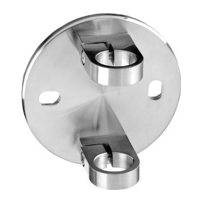 Q-Railing - Baluster bracket, MOD 0551, fascia mount, tube Dia 42.4 mm, stainless steel 304 interior, satin - [13055104212]