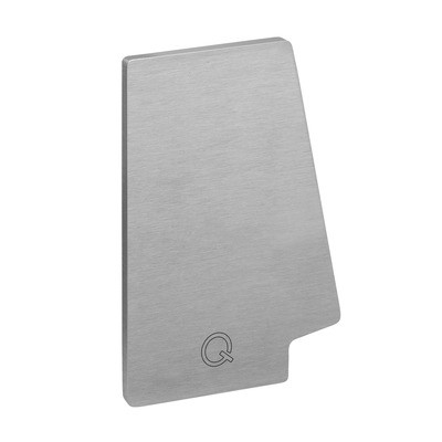 Q-Railing - End cap, Easy Glass Pro, top mount, left, Linear Light, aluminium, st. steel eff. IX, anod.