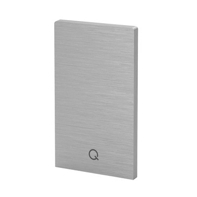 Q-Railing - End cap, Easy Glass Prime, top mount,left & right, brushed aluminium, anodized