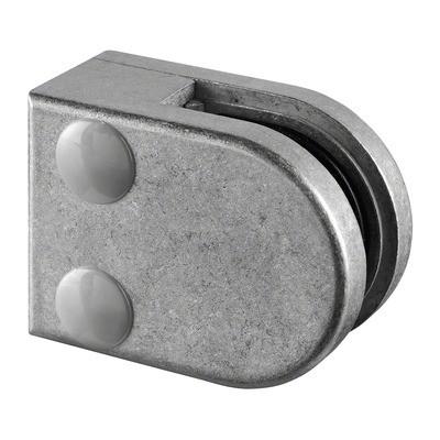 Q-Railing - Glass clamp, MOD 27, excl. rubber inlay, flat, zamak, raw [PK4]