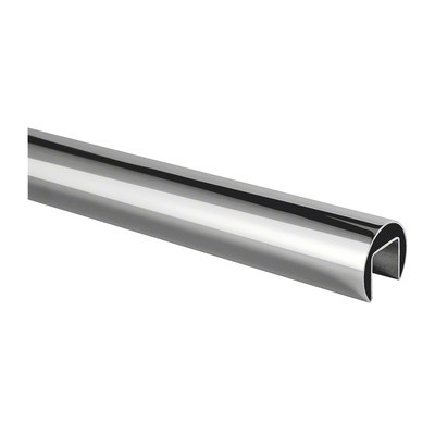 Q-Railing - Cap rail, Dia 42.4 mm x 1.5 mm, L=5000 mm, U=24 mm x 24 mm, stainless steel 316 exterior, polished - [14692004210]