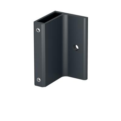 Q-Railing - Bracket for post profile, Easy Alu, fascia mount,120x70 mm, aluminium, anthracite grey RAL 7016