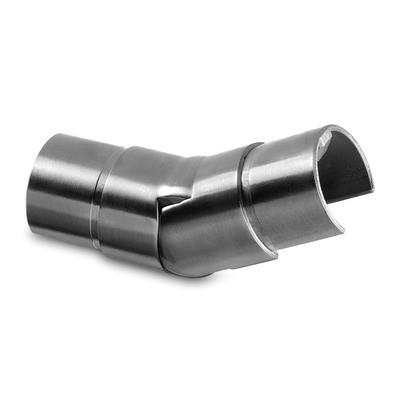 Q-Railing - Adjustable flush angle, (25 degree-55 degree), upwards, cap rail, Dia 42.4x1.5 mm, stainless steel 316 exterior, satin [PK2]- [14631204212]