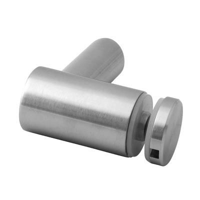 Q-Railing - Glass adapter, tube Dia 48.3 mm, 8 - 16.76 mm glass, stainless steel 316 exterior, satin MOD 0754[PK4]- [14075404812] 140754-048-12