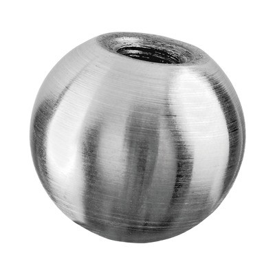 Q-Railing - Solid end ball, Dia 25 mm, M8 thread, stainless steel 304 interior, satin [PK6]