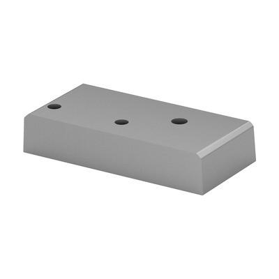 Q-Railing - Base flange for post profile, Easy Alu,left, brushed aluminium, anodized 25 micrometre