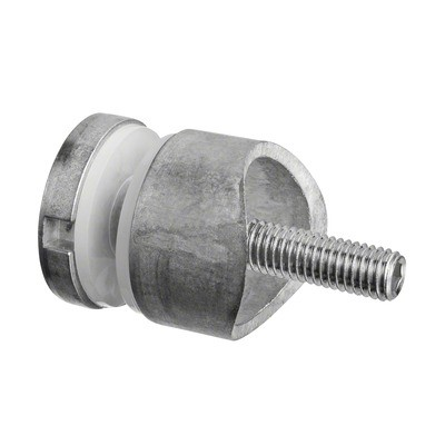 Q-Railing - Glass adapter, Dia 30 mm, tube Dia 33.7 mm, M8 thread, 6 - 17.52 mm glass, zamak, raw MOD 0746[PK4]- [10074603300]