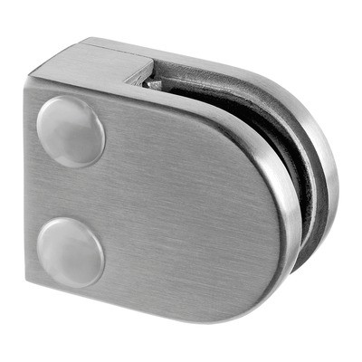 Q-Railing - Glass clamp, MOD 20, excl. rubber inlay, flat, stainless steel 316 exterior, satin [PK4]- [14200000012]