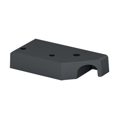 Q-Railing - Corner base flange for post profile, Easy Alu,left, aluminium, anthracite grey RAL 7016 - [16902696033] 169026-009-91-33