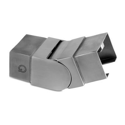 Q-Railing - Adjustable flush angle, (25 degree-55 degree), upwards, cap rail, 60x40x1.5 mm, stainless steel 304 interior, satin [PK2]- [13631264012]